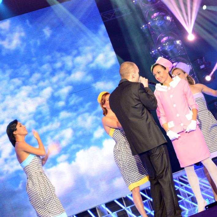 Martin on stage