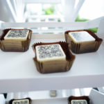 One delicious bonbons with QR code