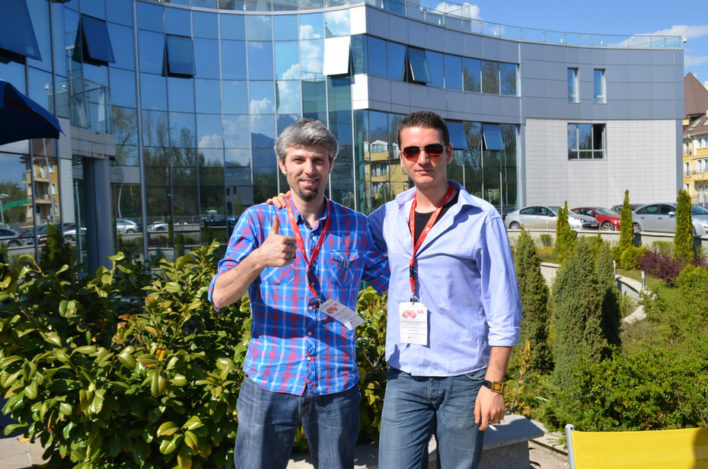 Stefan and Dimitar for a snapshot before the last panel discussion