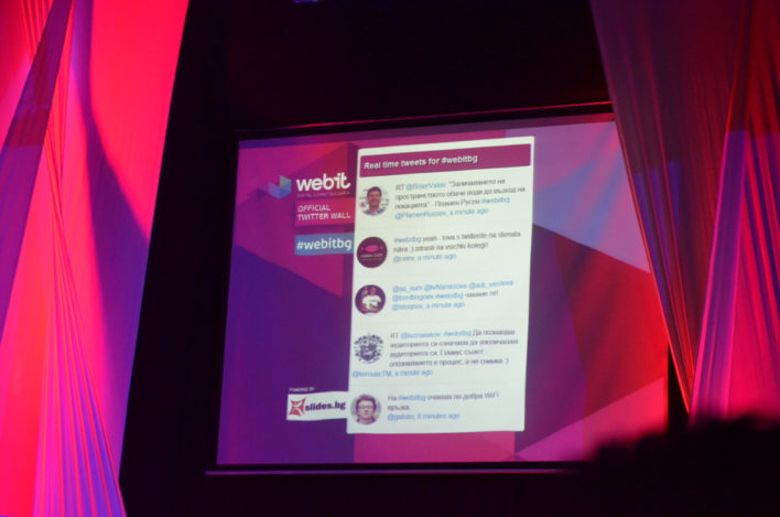 We are proud that we have created the official live twitter wall for the event
