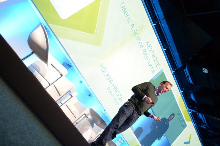 Volker Hirsch presenting