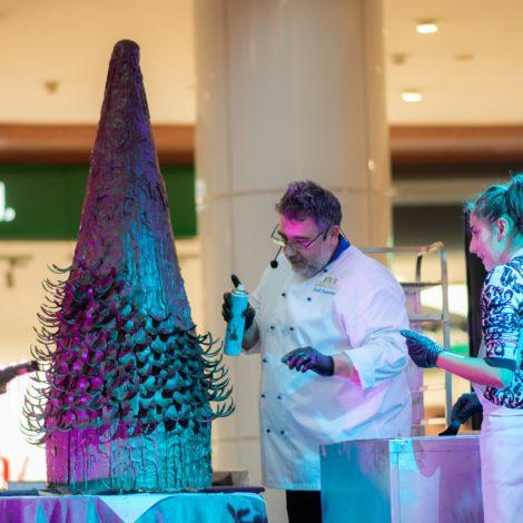 Paradise Center chocolate Christmas tree